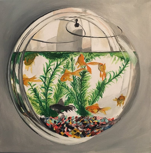 Fishbowl on the wall