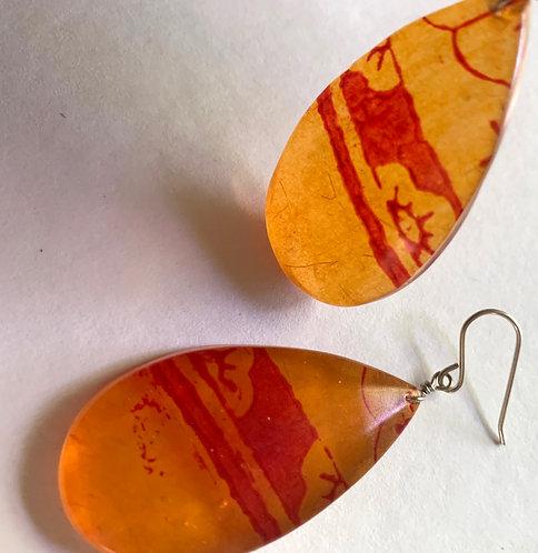 Stamped Orange Translucent