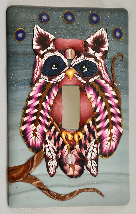 Crown of Stars Owl Single Switchplate