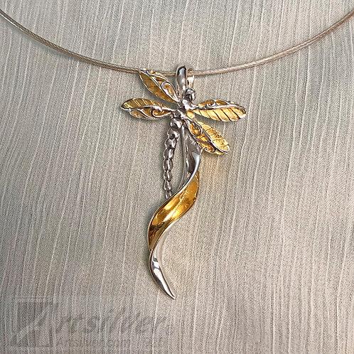 Dragonfly Twist & Curve Pendant Style KS814