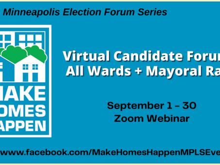 Make Homes Happen Candidate Forums