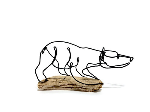 Bear Cub Wire Sculpture