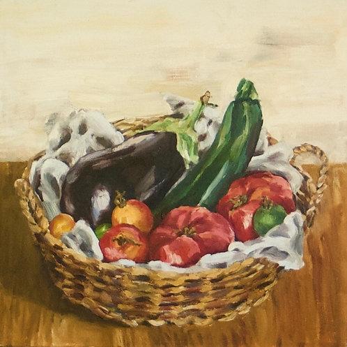 Eggplant, Zucchini, Tomatoes