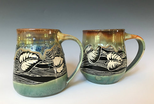 Leaf Mug Set