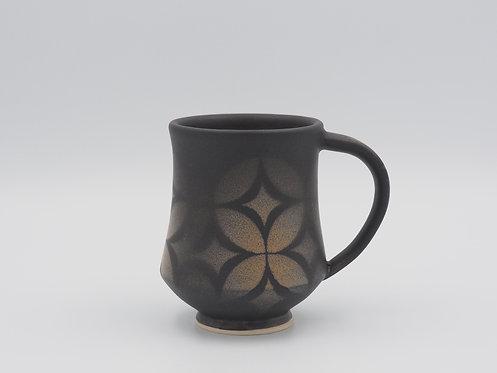 Black Mug With Geometric Design