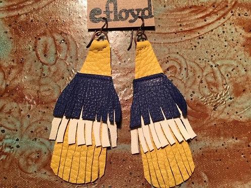 Yellow Blue White Fringe