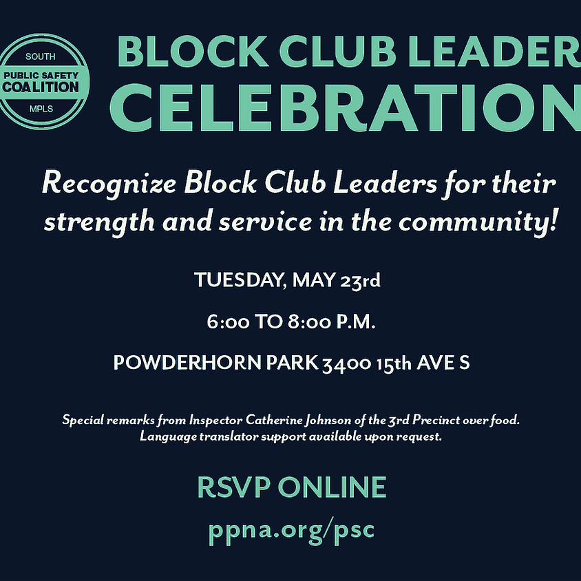 BLOCK CLUB LEADER CELEBRATION