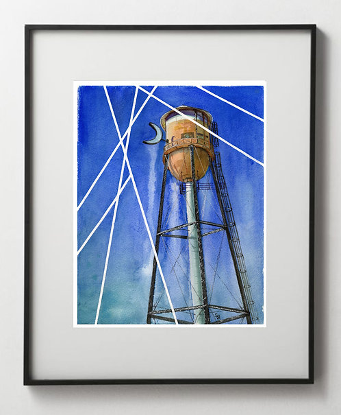 Crescent Moon Water Tower - Reproduction