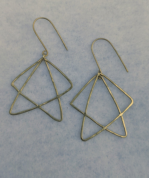Sterling Paper Plane Earrings