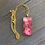 Thumbnail: Pretty in Pink Glass Rectangle Pendant Alcohol Ink Necklace