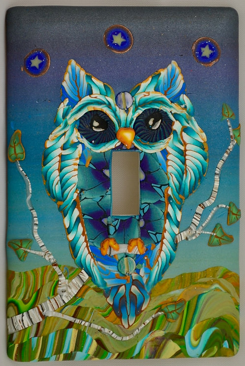 Moody Blues Owl Switchplate