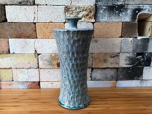 White Carved Vase