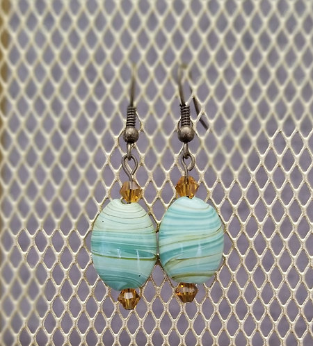 Brown Earth Tone Agate Earrings