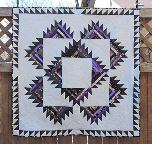 Purple Log Cabin Quilt