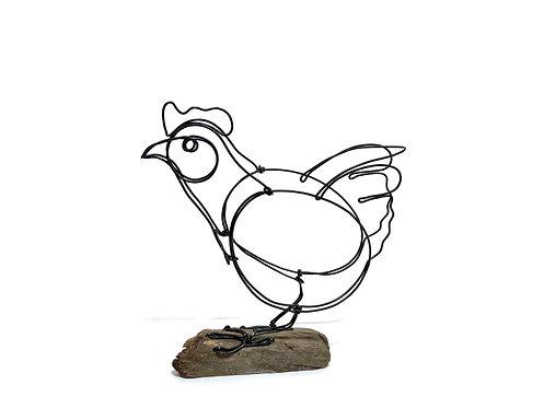 Little Red Hen Wire Sculpture