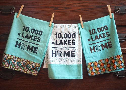 Tea Towel 10,000xLakes=Home