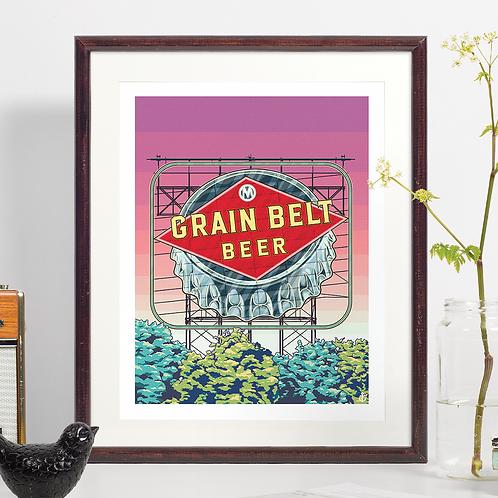 Grain Belt Beer Neon Sign