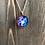 Thumbnail: Hibiscus Blue Purple Hand Painted Pendant Necklace