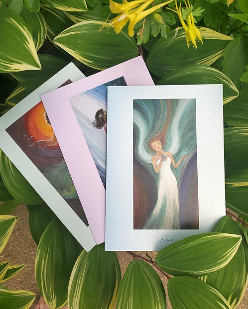 Trio of Light/Pack of 3 Greeting Cards