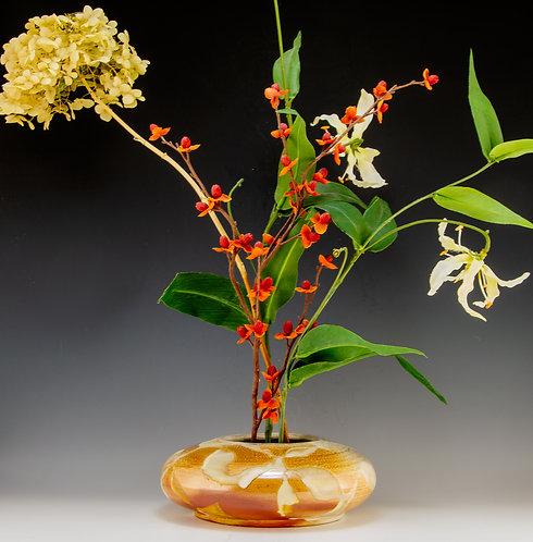 Gold & White Ikebana Vase