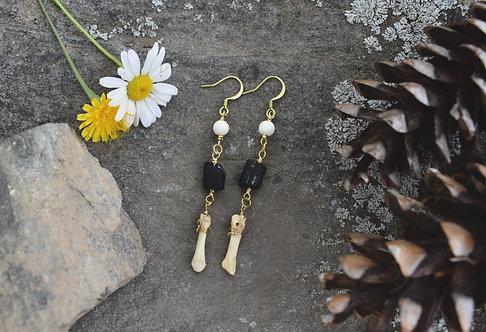 Coyote Toe Bone Earrings