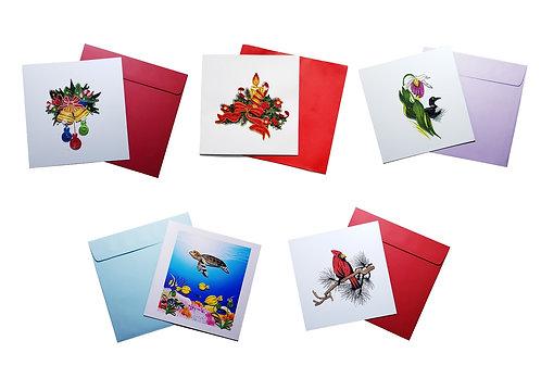Quilling Kirigami Artworks 5-Pack