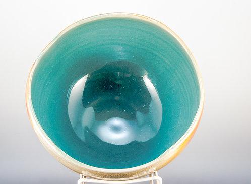 Large Blue Wave Bowl