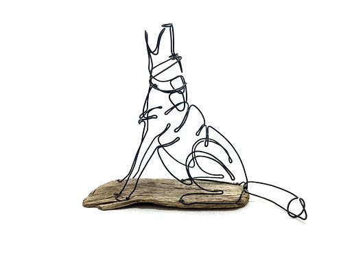 Wolf Howling/Seated