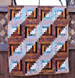 Batik Log Cabin Quilt