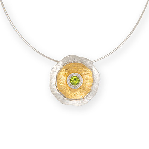 Spring Blooms Pendant with Peridot