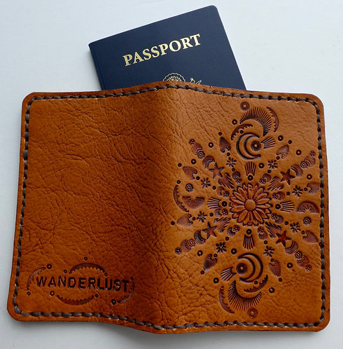 Sunflower Mandala Passport Cover