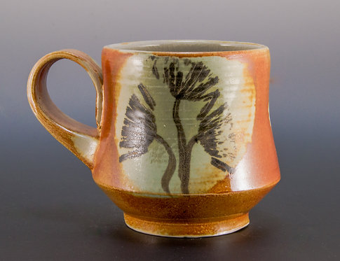 Black Dandelion Coffee Mug