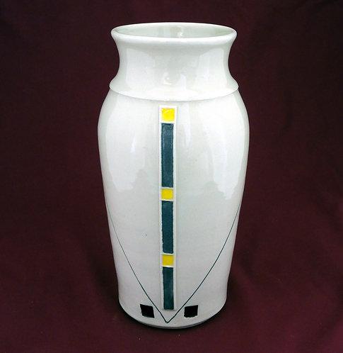 Prairie Vase Yellow & Black