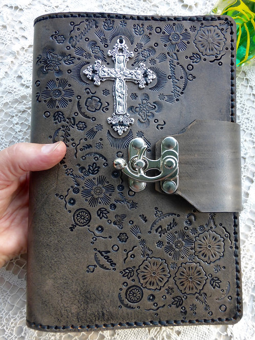 Large Cross Tooled Journal