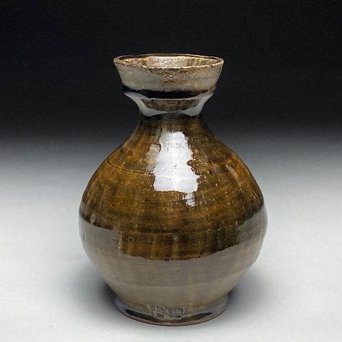 Ash Green Ochre Vase