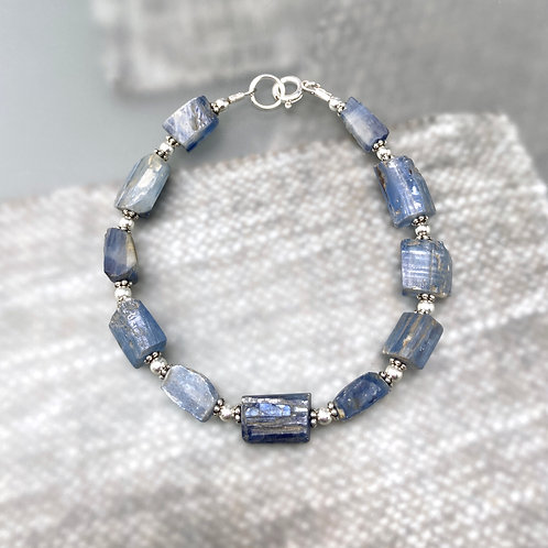 Rough cut Kyanite Bracelet