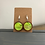 Thumbnail: Green and Gold Alcohol Ink in Wood Earrings