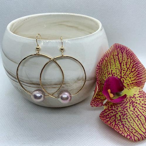 Edison Pearl Hoop Earring