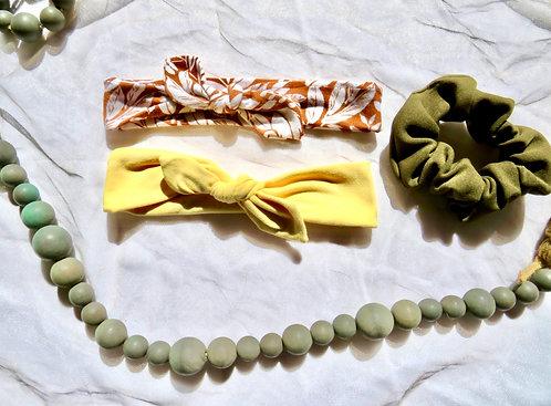 Green House Headband + Scrunchie Set