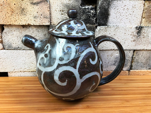 Swirly Shino Teapot
