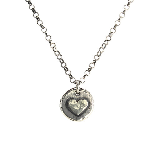 Heart Nugget Necklace