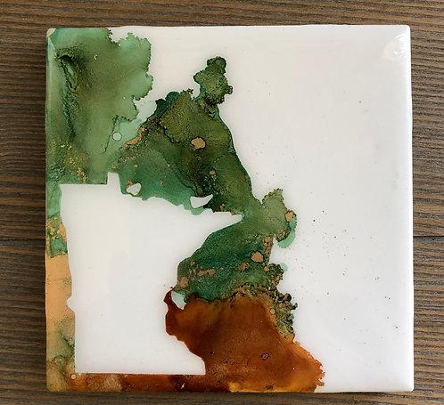 Green and Brown Minnesota Coaster