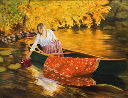 Woman in Lily Pads