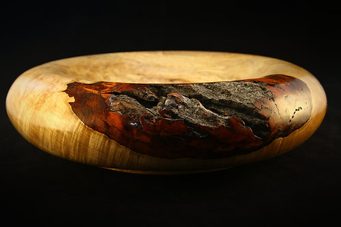 #269 Quilted Silver Maple bowl
