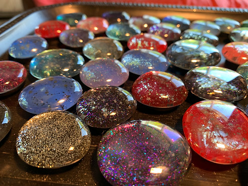Glitter magnets (4 pack-assorted)