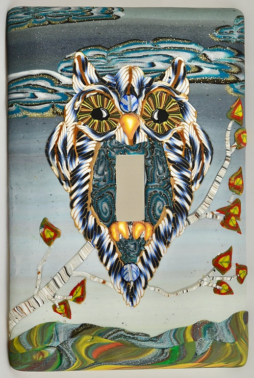 Autumn Equinox Owl Single Switchplate