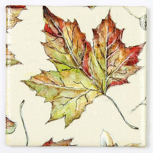 Autumn Leaves on Taupe