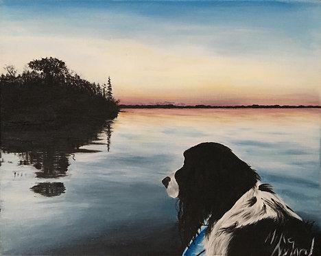 Sunset on Big Turtle Lake
