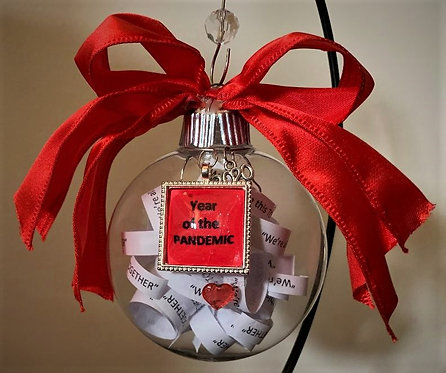 """Commemorative Ornament the """"Year of the Pandemic"""""""