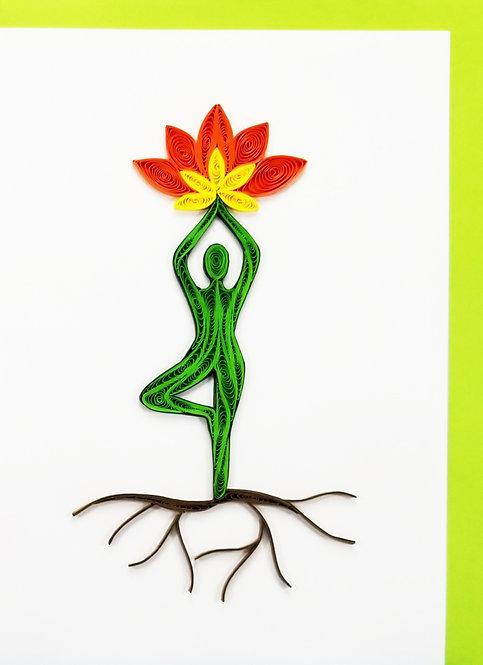 701F Yoga Pose Lotus